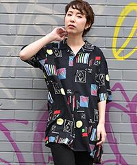 デジタルプリントレーヨンシャツ