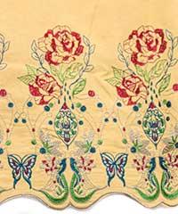 花刺繍シャツチュニック