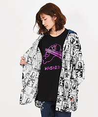 クマ迷画フード付シャツ